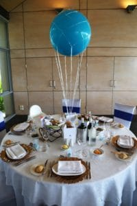 Alex Christening Table Decoations Centrepieces