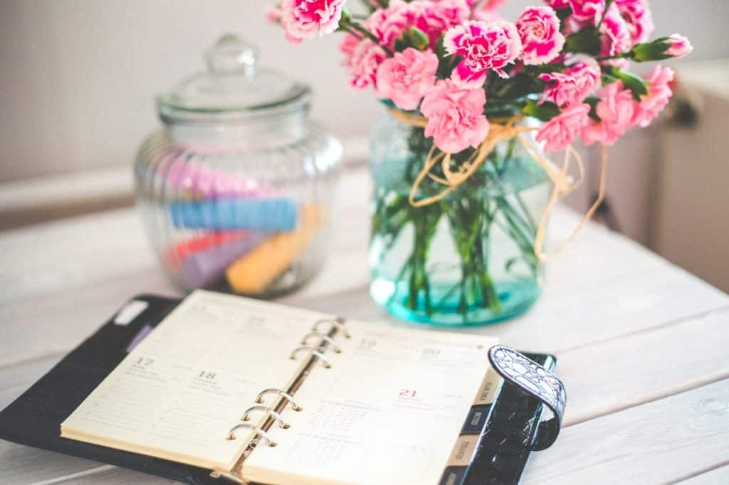 Wedding Planning Book with Flowers Sydney CBD Office