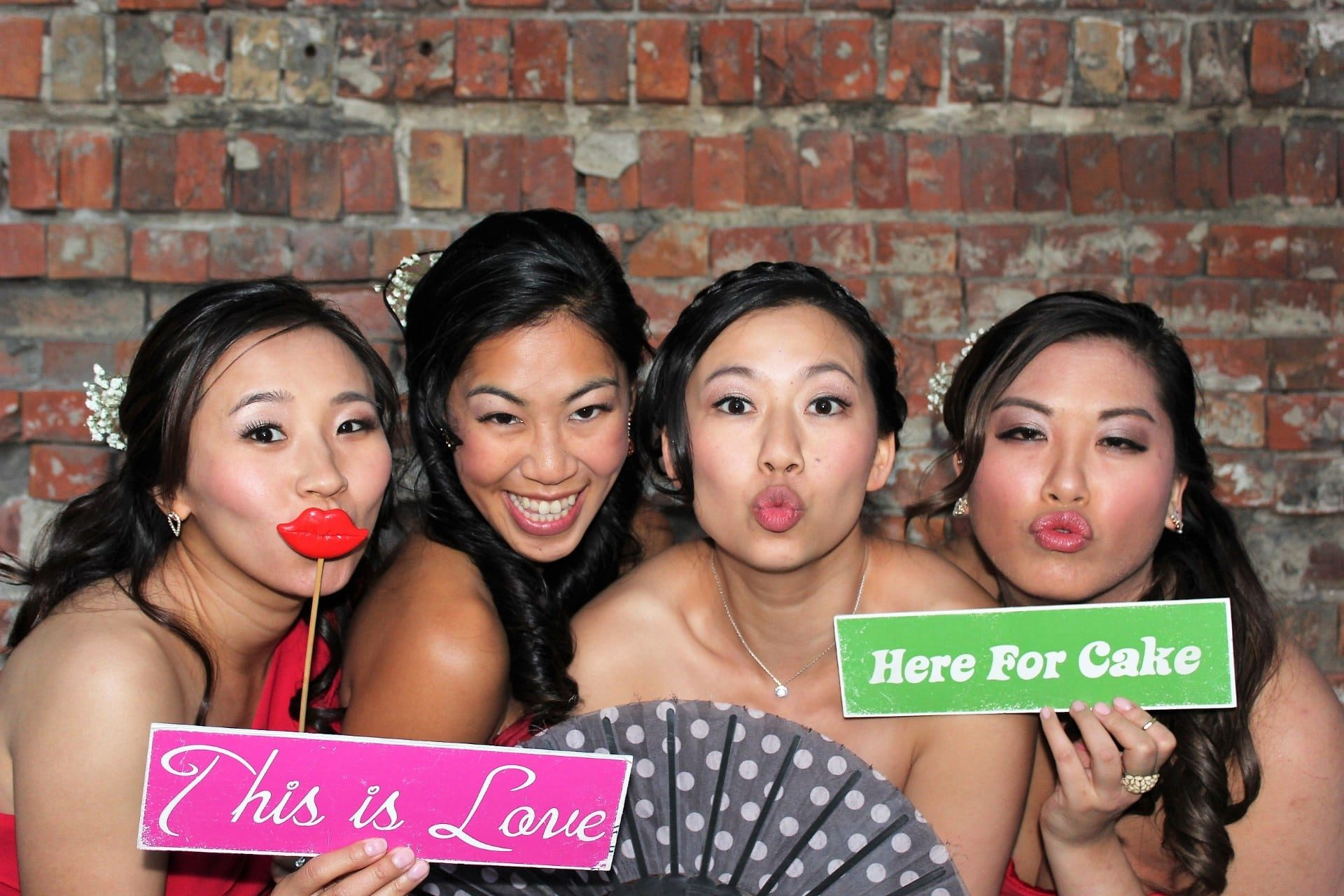 Entertainment Photo Booth open air wedding party group shot bride Entertainment Photo Thingy