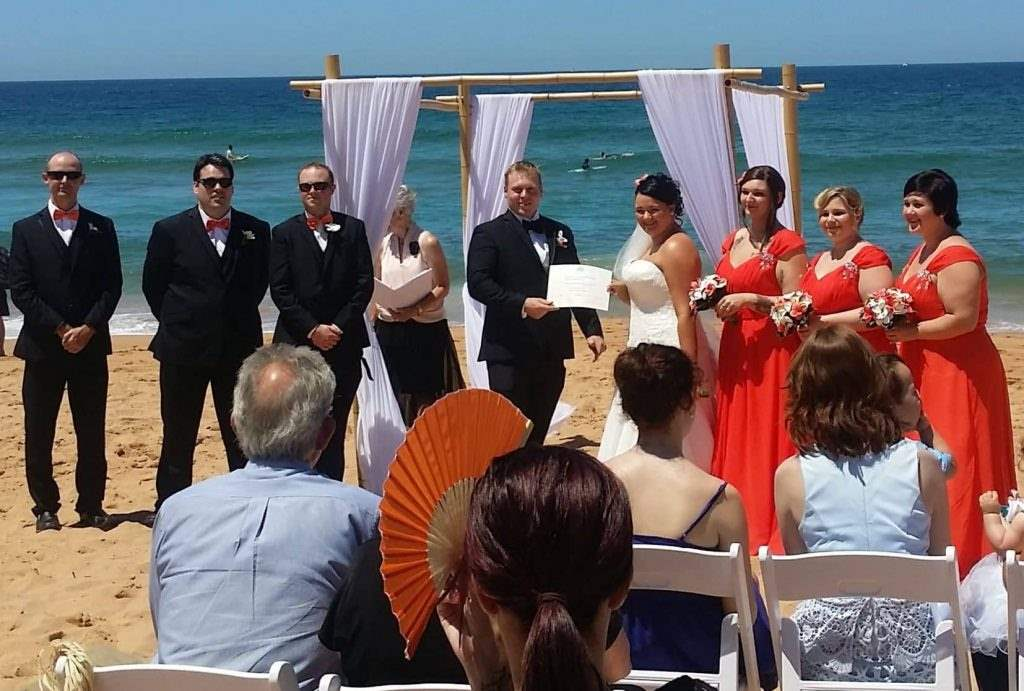 Greg & Sabrina Beach-front Wedding Bridal Party