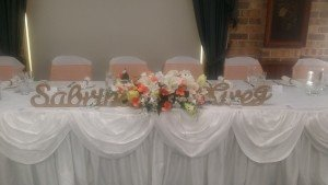 Sabrina & Gregs Bridal Table