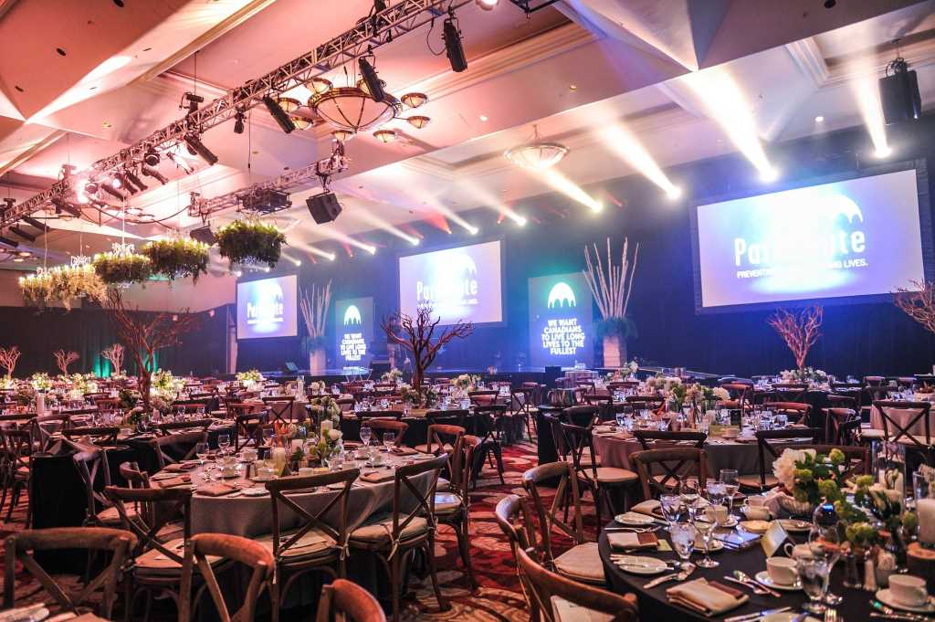 Corporate gala event award night dinner