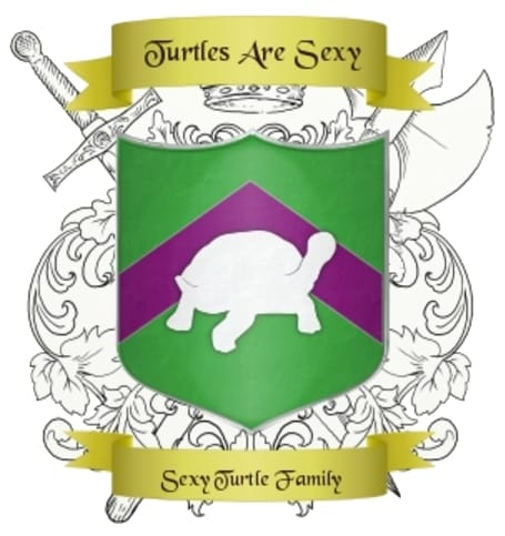 Family Crest Cake Topper Sexy Turtle Family