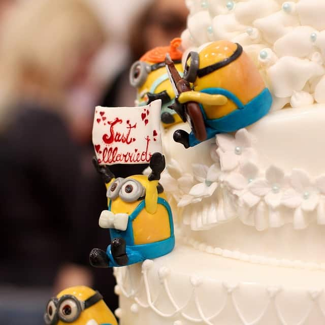 Minion Cake Topper Funny Just Married