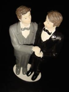 Gay Same Sex Wedding Cake Topper