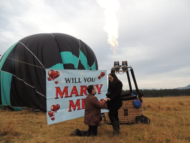 Proposal Planning Hot Air Balloon Romantic Proposal