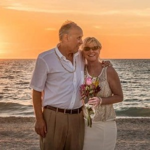 Newing Wedding Vows: Mature Couple