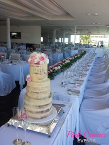 Rustic Naked Cake Floral Bridal Table Flower Hedge CHECKED