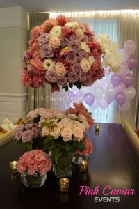 Private Event Pink White Tall Centrepieces Flower Ball Birthday Exclusive Balloons WM CHECKED