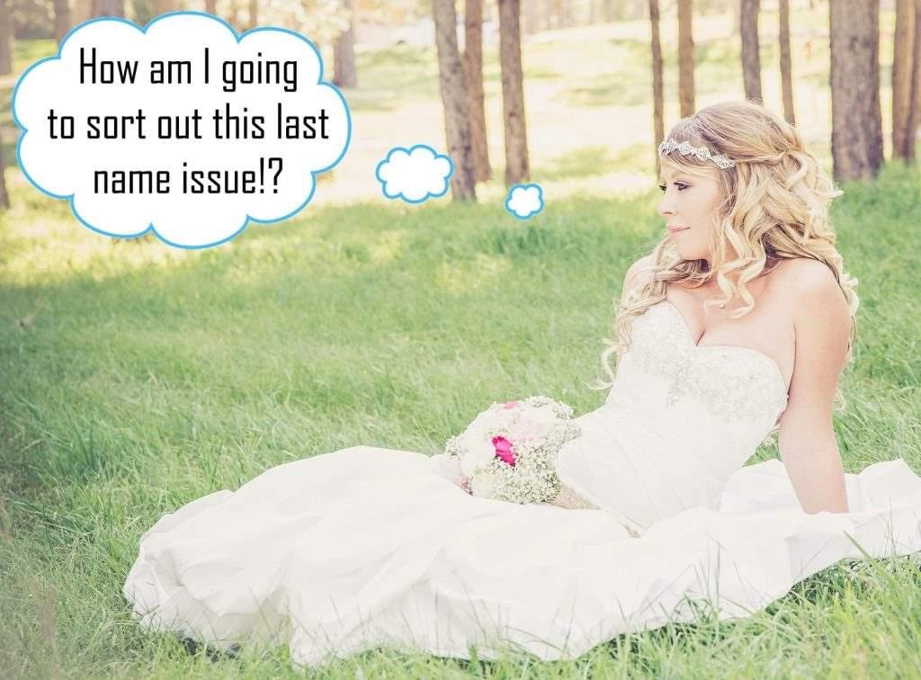 Contemplating Bride Last Name