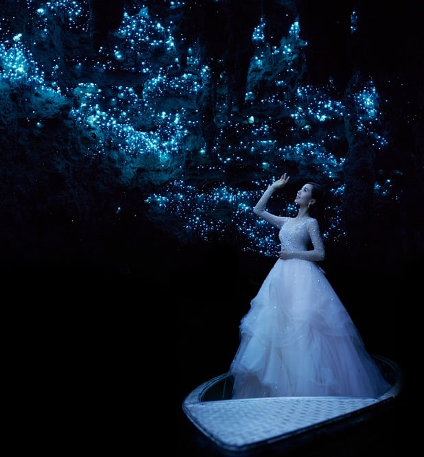 New Zealand Destination Weddings: Waitomo Glowworm Cave New Zealand