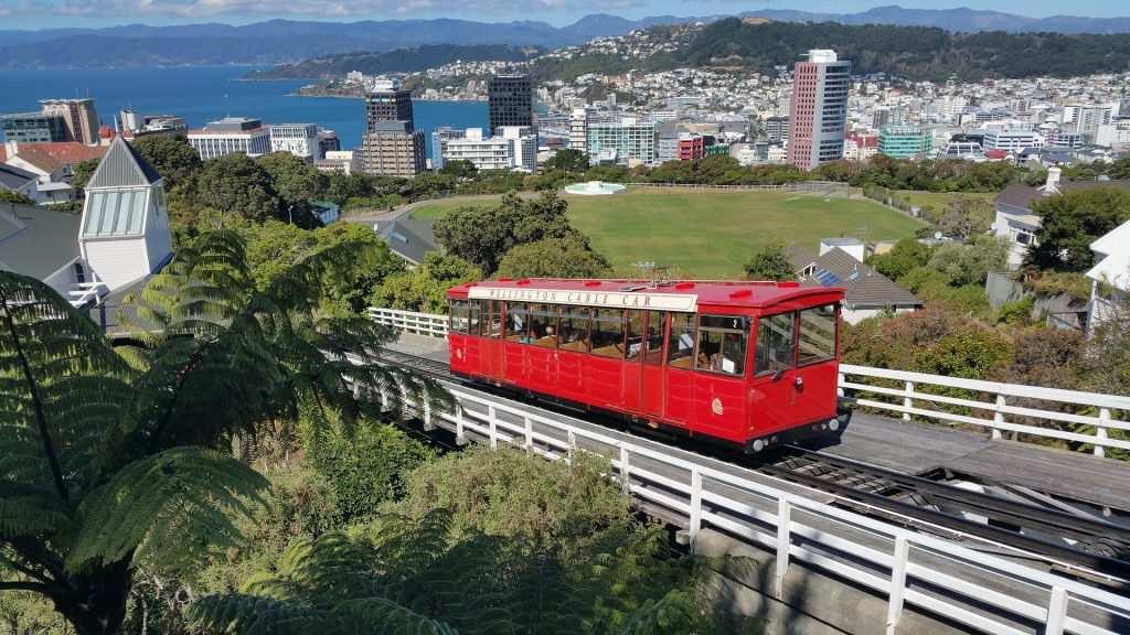 Wellington Destination Wedding: City Skyline and tram