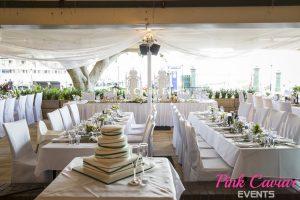 Wedding Green White Wedding Thrones Sydney Harbour CHECKED
