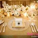 Clear Plates with low florals and candlesWM