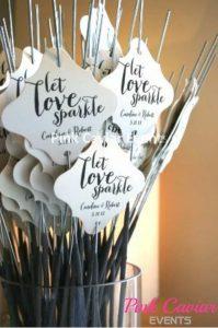Let Love Sparkle Sparkler Exit Vase With Sparklers And Message WM