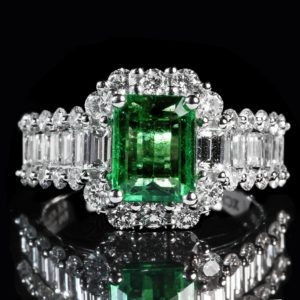 Anniversary Gemstone List and Wedding Anniversary Colours Gift: Emerald Ring