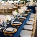 Navy-Table-Cloth-Gold-Charger Plates-long-table-WM