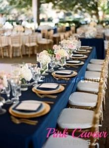 Navy-Table-Cloth-Gold-Charger Plates-long-table-WM TO BE REPLACED
