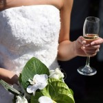 Wedding Cocktails: Bride Drinking Cocktail Champagne