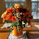 Wedding Anniversary Colours Gift: Orange Roses