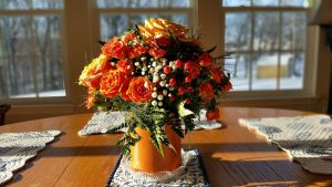 Wedding Anniversary Colours Gift: Orange Roses