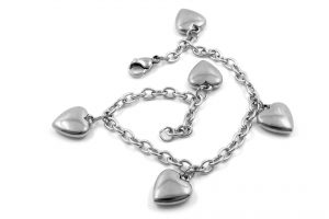 Wedding Anniversary Colours Gift: Silver Heart Chain