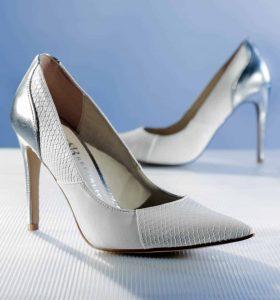 Wedding Anniversary Colours Gift: White Stilettos
