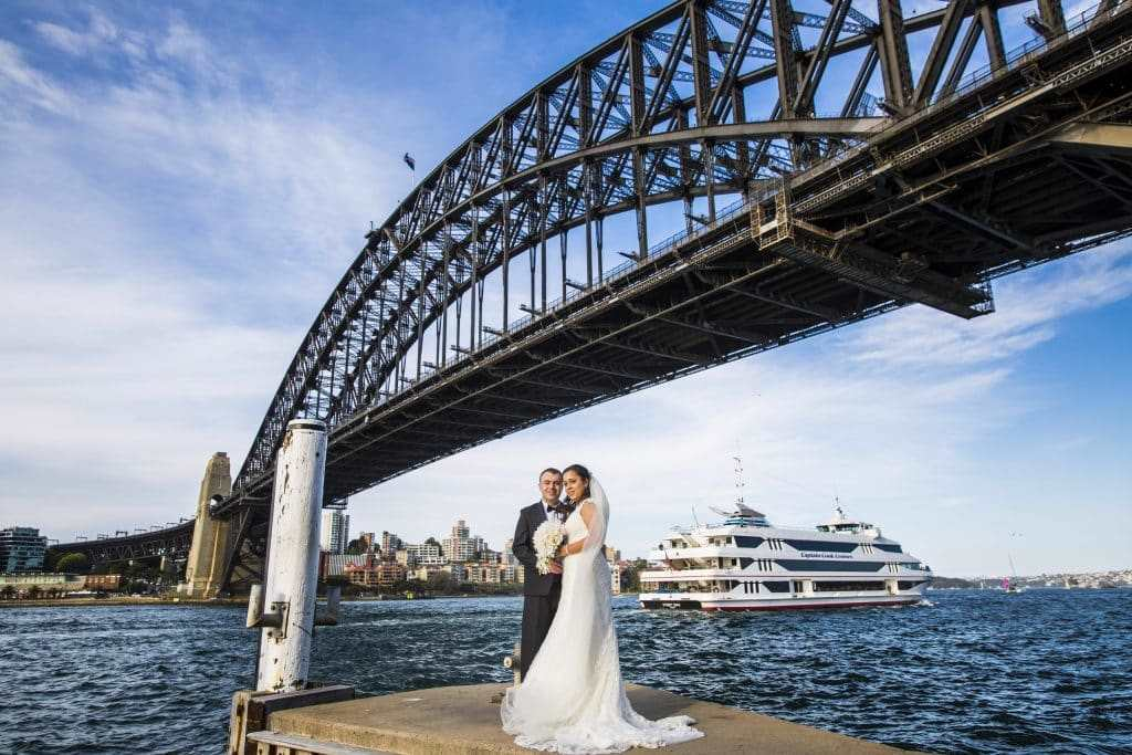 Group Wedding Transport: Stephanie Cassimatis Sydney Harbour Bridge Cruise Ship