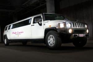 Types Of Wedding Transport: White Hummer Limousine