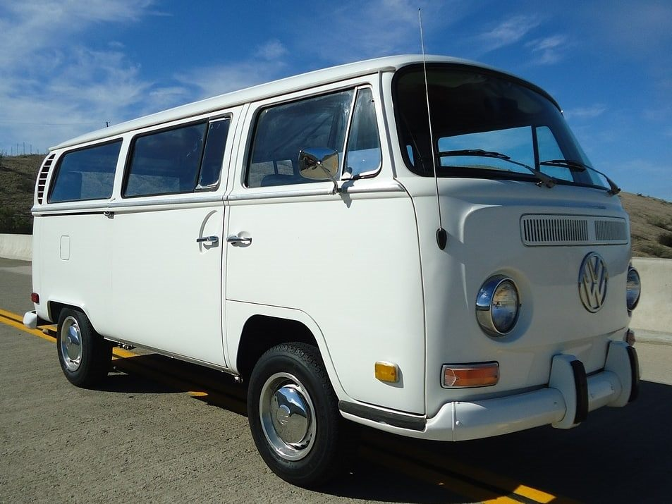 Wedding Transport: White Kombi Van Microbus