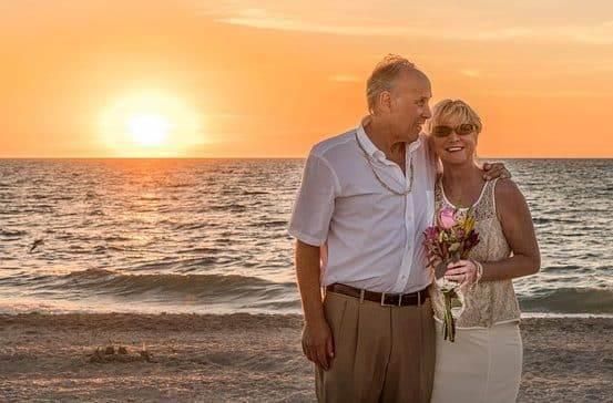 Renewing Wedding Vows: Mature Couple