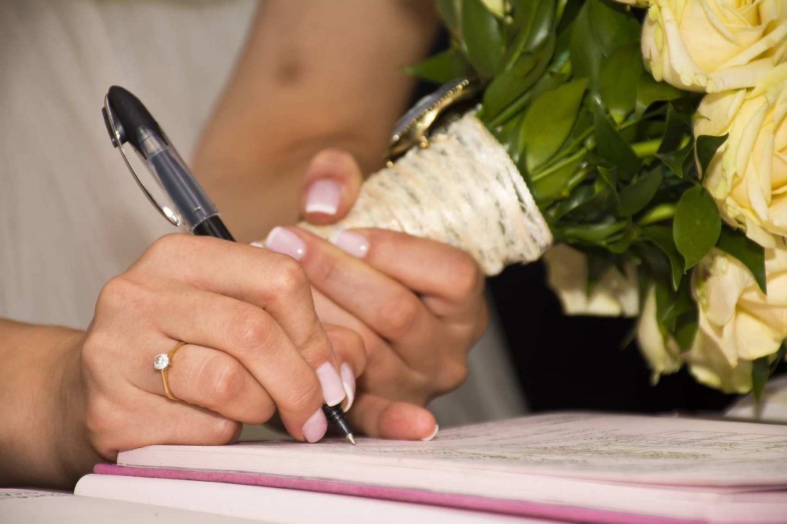 Change Your Name: Bride Changing Her Name after wedding paperwork