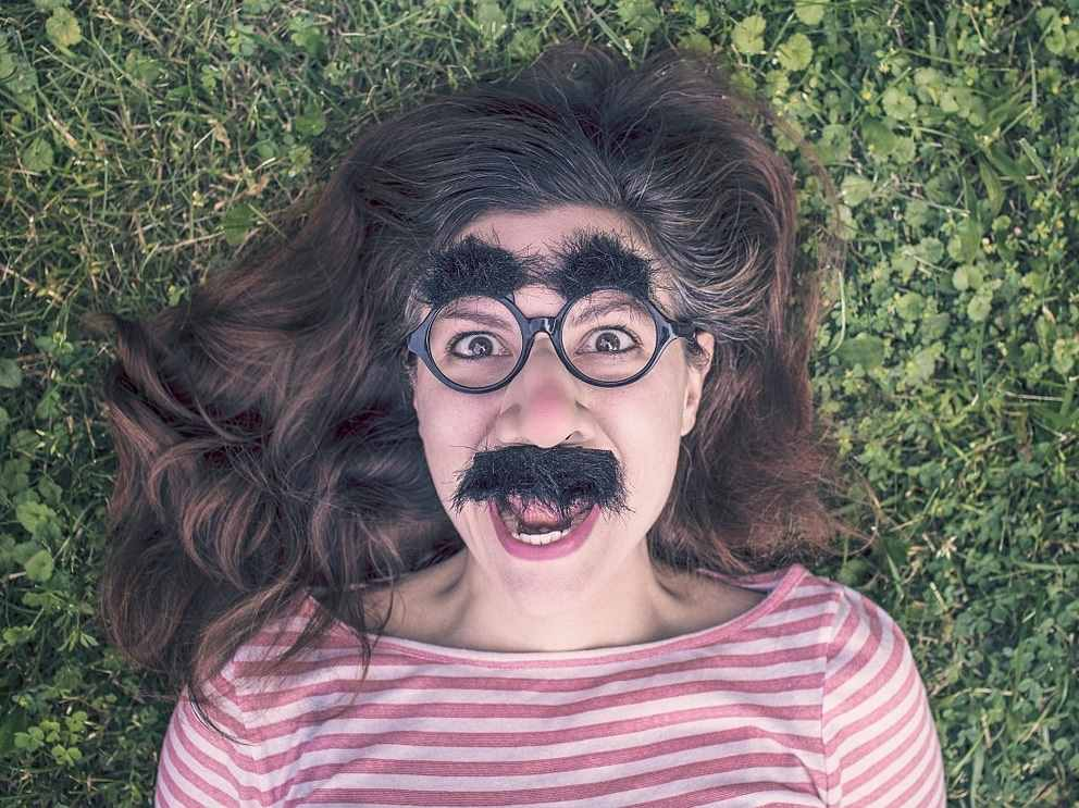 Bucksjack: Stalker Fiance Funny face boman fake funny glasses moustache eyebrows