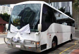 Group Wedding Transport Tips: White Wedding Coach
