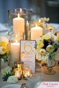 Pillar-Candle-Mercury-Glass-Wedding-Centrepiece WM
