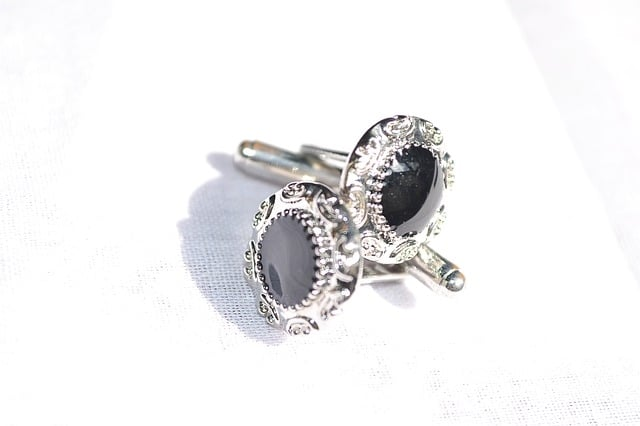 Wedding Gift Exchange Groom Gifts Cuff-links Silver and black onyx