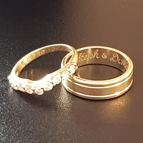 Wedding Exchange Gifts engraved wedding rings bands love