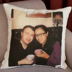 Second Year Anniversary Cotton Perfect Wedding Anniversary Gift Couple Pillow