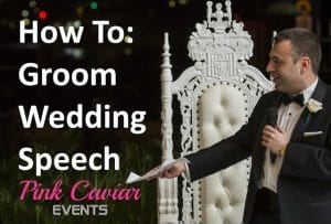 How To Groom Speech Wedding Guide