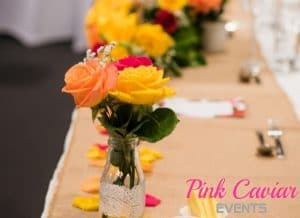 Rustic Florals Hessian Centrepieces CHECKED