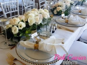 Table Decor Floral and Gold