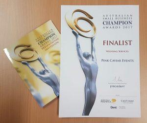 Australian Small Business Champion Awards 2017 - Certificate