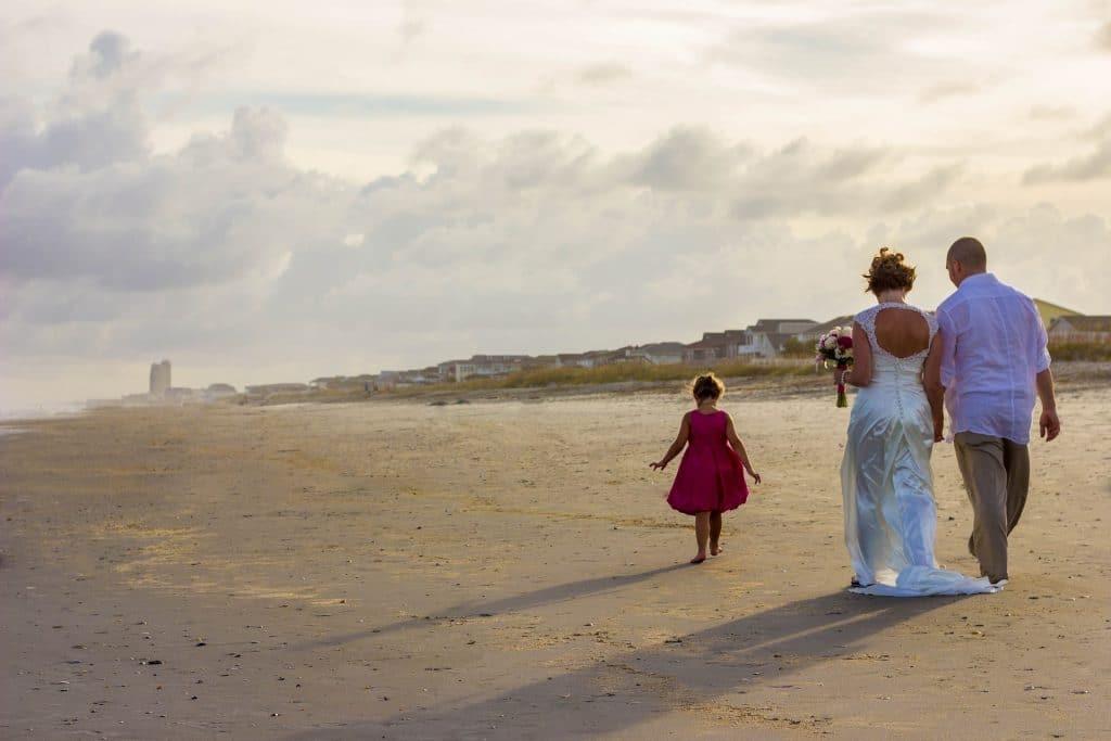 No Children At Wedding - Walking on the beach