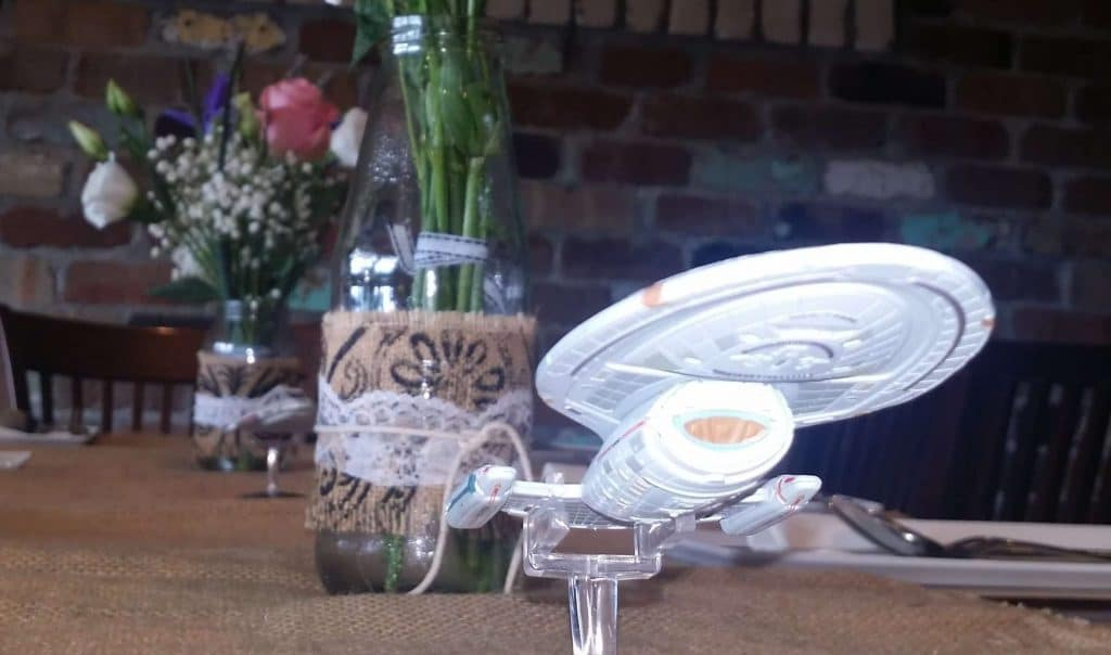 The USS Voyager boldly going to a wedding near you!