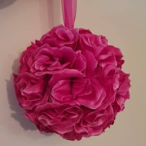 Hot Pink Hanging Flower Ball