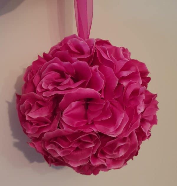 Hot Pink Hanging Flower Ball