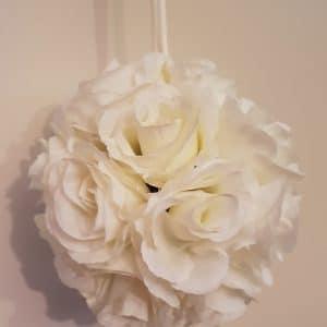 Ivory Hanging Flower Ball