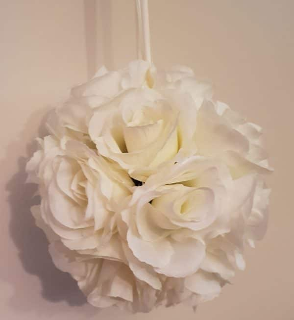 Ivory Hanging Flower Ball