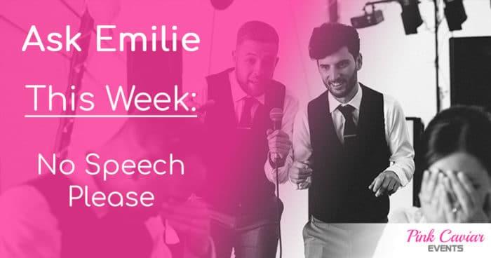 Best Man Speech: No Speech Please