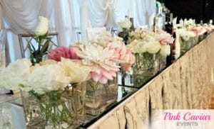 bridal table mirror runner candles flowers WM CHECKED